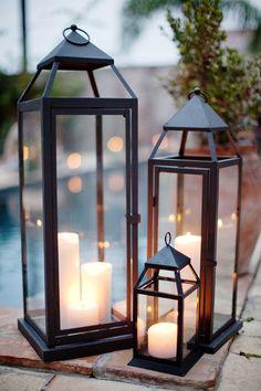 Trendy backyard gazebo lighting romantic Ideas - All For Garden Porch Lanterns, Floor Lanterns, Small Lanterns, Pottery Barn Lanterns, Garden Candle Lanterns, Outside Lanterns, Lantern Diy, Table Lanterns, Chandeliers