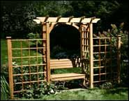 Arbors with Bench(es) Included