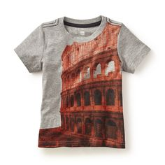 Tea SS16 Colosseum Graphic Tee in med heather grey | This colossally cool tee features one of Italy's most iconic monuments. - $22.50