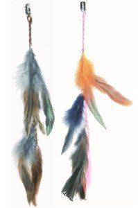 "2 X Colored Feather Hair Extensions Grizzly Hair Extension Clip in on Beauty Salon Supply Wholesale Lot New by opt. $5.99. Material:  Colored Feather. Package Includes: 2 pieces dyed Natural  Feathers hair extensions.. 2 X Colored Grizzly Feather Hair Extensions Clip In On Beauty Salon Supply Wholesale Lot New. Length: about 14"" (35cm). User Friendly: Make your own hair style.. Real Natural Feather Hair Extensions  Clip In On . Make your own hair style.  Package Includes: 2 piec..."
