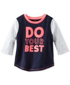 Osh Kosh Toddler Girls' Colorblocked Graphic Top