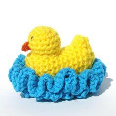 (4) Name: 'Crocheting : Duck Washcloth Scrubbie Crochet Pattern
