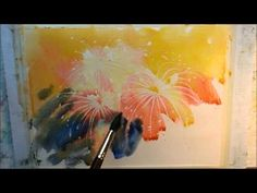 ▶ How to paint fireworks part 1 - YouTube