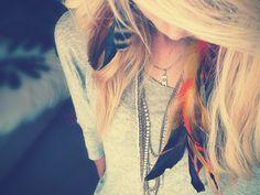fashion, accessori, makeup, hair style, hairstyl, beauti, pretti, feathers, thing
