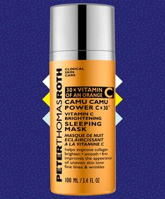 Peter Thomas Roth Vitamin C Overnight Face Mask | Find out how this vitamin-C face mask can make those red marks left by pimples look infinitely better. #refinery29 http://www.refinery29.com/peter-thomas-roth-vitamin-c-overnight-mask