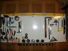 Magnetic tool pegboard