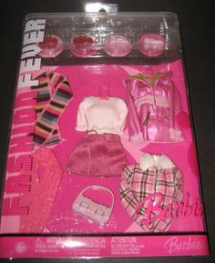 New 2006 Barbie Fashion Fever 12 Piece Clothes and Accessories New   eBay