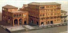 Reconstruction of an insula in Ostia. Location: Museo della Civilta Romana, Rome.
