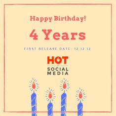 4 Years of Hot in Social Media Event Marketing, Marketing Plan, Social Media Marketing, 4 Years, Events, How To Plan, Hot