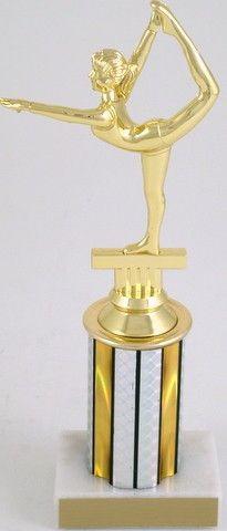 "Arabesque Gymnastics Trophy on 3"" Column"