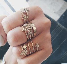 Pack a punch / make your stack count and layer up your favorite rings by matching the same metals.