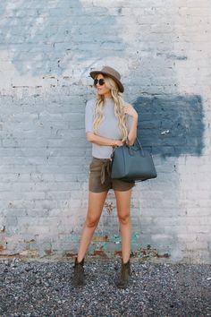 Suede Shorts for Fall