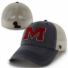 low priced 3a054 23445  47 Brand Mississippi Rebels Caprock Canyon Flex Hat - Navy Blue White  Mississippi State