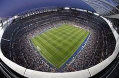 A general view during the UEFA Champions League quarter-final second leg match between Real Madrid and Atletico Madrid at Estadio Santiago Bernabeu