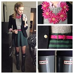 karla reed's instagram green and navy, w gray and pink