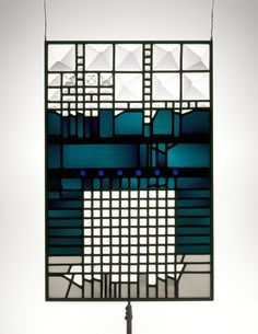 Stained glass window by Ludwig Schaffrath - The Corning Museum of Glass.