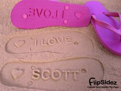 Personalized Flip Flops. Personalize With Your Sand Imprint Design. No Minimum Order Quantity.. $19.95, via Etsy.