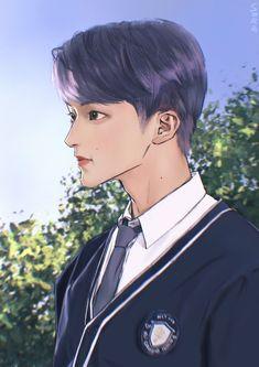 Park Ji Sung, Mark Nct, Korean Art, Na Jaemin, Cool Art Drawings, First Art, Handsome Anime, Kpop Fanart, Nct 127
