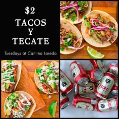 Deciding what to eat tonight? Don't worry, your Tuesday plans are already locked down. Cantina Laredo #TacoTuesday #Tecate #GrandBoulevard