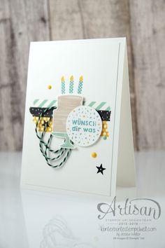 Geburtstagskarten kann ich nie genug haben, kaum ist ein Schwung fertig, sind sie auch schon wiederden Geburtstagskindern übergeben. Daher sollen sie schnell gestempelt sein und ein geringen Aufwa…