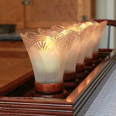 repurposed glass shades   For a streamline or contemporary look, I can use it without any ...