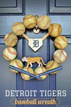 How to Make a Detroit Tigers Baseball Wreath