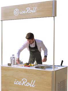 iceRoll - Une nouvelle expérience de crème glacée Roll Up Ice Cream, Ice Roll, Ice Cream Logo, Ice Cream Cart, Food Stall Design, Food Cart Design, Cafe Design, Party Food Carts, Snacks Für Party