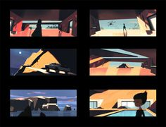 I had the privilege to work with the incredible Kevin Dart. Here are some designs and color tests I did for his next Yuki 7 short film.http://kevindart.tumblr.com/