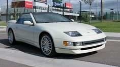 1993 Nissan Convertible presented as lot at Anaheim, CA 2015 - 5 Speed Transmission, Nissan 300zx, New Tyres, Twin Turbo, Convertible, Automobile, Cars, White People, Autos