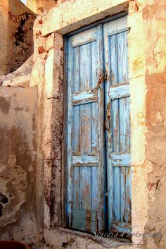 Wooden Rustic Door Santorini Greece Photo Print Architectural Wall Art Home Decor Photography by seardig, $24.00