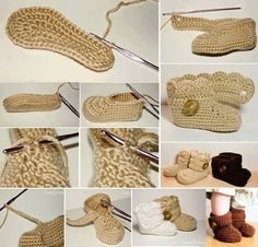 botinha de crochê para bebês