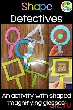 Shape Finders / Shape Detective Activity Shape Finders / Shape Detective Activity Sophia Wirminghaus sophiamewi Mathe Unterricht Grundschule Shape Detective Activity for Preschool. Kids love using […] classroom without tables Preschool Learning Activities, Preschool Shapes, Motor Activities, Circle Time Activities, Cutting Activities, Fun Activities For Toddlers, Alphabet Activities, Circle Time Ideas For Preschool, Science Activities For Preschoolers