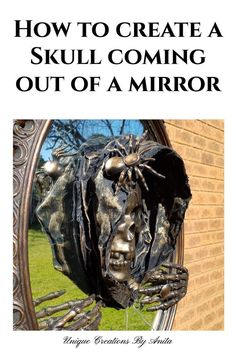 This tutorial will show you have to create this creepy appearance of a skulkl coming out of a mirror. Using resin, fabric and stifner you will learn how to make the hood out of scrap fabric. This… Halloween Projects, Diy Halloween Decorations, Diy Craft Projects, Project Ideas, Creepy Halloween, Halloween Skull, Halloween Night, Fabric Scraps, Scrap Fabric