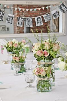Snart klar for den store festen! Wedding Table, Diy Wedding, Rustic Wedding, Wedding Flowers, Wedding Ideas, Deco Champetre, Vibeke Design, Deco Floral, Wedding Decorations