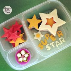Superstar school lunch | packed in @EasyLunchboxes containers