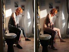 Fotógrafa imagina um mundo sem roupas em ensaio com gente nua
