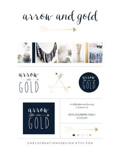 Arrow and Gold branding by Chelsea Creations Design.