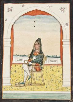 A Portrait Of Rani Jindan (d. 1863), Maharaja Ranjit Singh's Youngest Wife Sikh School, Punjab, Second Quarter 19th Century Maharaja Ranjit Singh, 3 Arts, Indian Art, Middle East, 18th Century, Miniatures, Calligraphy, Culture, History