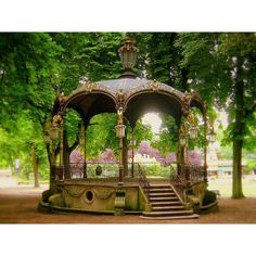 Bandstand at the Pepiniere Park, Nancy, France http://www.pinterest.com/pin/148900331405301002/ #steampunk #victorian