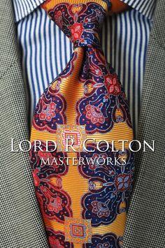 Lord R Colton Masterworks Tie - Isla Picton Sunrise Silk Necktie - $195 New #LordRColton #NeckTie