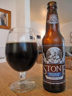 Stone Brewing Company Smoked Porter Wtih Vanilla Bean. Loved the vanilla bean finish but personally don't care for pairing the vanilla bean with a smokey flavor. I'll be looking for other beers with vanilla bean. Without the smokey taste I'm thinking ice cream beer float, thanks to a beer drinking bud.