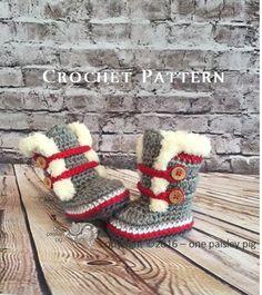 Work Sock Winter Booties PDF CROCHET PATTERN von OnePaisleyPig
