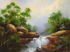 Best Workplace, Waterfall Paintings, Sunrise, Graphic Design, Landscape, Wallpaper, Outdoor, Beautiful, Pretty Pictures