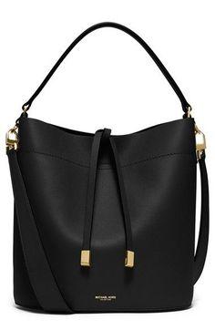 Free transport and returns on Michael Kors Medium Miranda Leather-based Bucket Bag at… Mk Handbags, Burberry Handbags, Fashion Handbags, Purses And Handbags, Fashion Bags, Designer Handbags, Leather Handbags, Fashion Outfits, Leather Crossbody