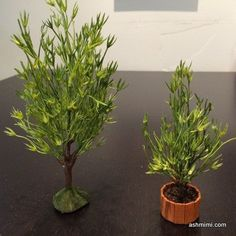 how to: miniature tree and plant