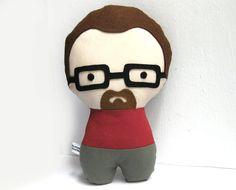 This looks like my husband. Personalized Stuffed Fabric Doll by citizenscollectible on Etsy, $36.00