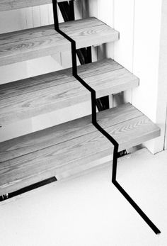 DIY party tape stairs