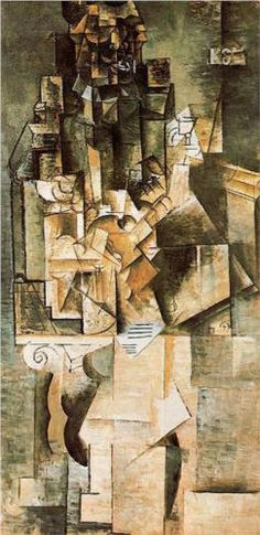 Man with a guitar - Pablo Picasso = facets of light and concurrent perspective