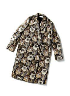 ゴブラン織りコート ¥240,000(ステラ マッカートニー) ハイブランドの新着をチェック!プレフォールに大量発生したアニマルモチーフを捕獲 | GINZA | FASHION