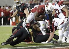 Arizona Cardinals running back David Johnson (31) scores a touchdown against the San Francisco 49ers during the second half of an NFL football game in Santa Clara, Calif., Thursday, Oct. 6, 2016.